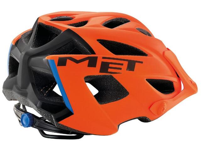 MET Terra Cykelhjelm, matt orange/black/blue